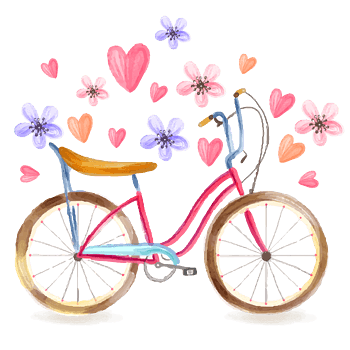 小清新风自行车