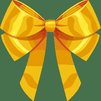 蝴蝶结金色蝴蝶结丝带