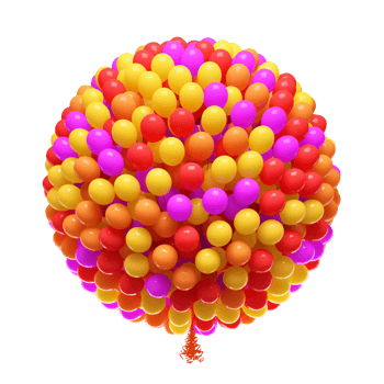 五彩气球暖色系列气球放飞气球