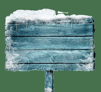 冬天的指示牌