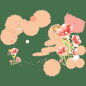 粉红色唯美背景梦幻花朵背景