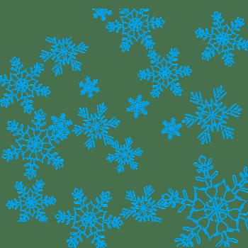 蓝色雪花片矢量图