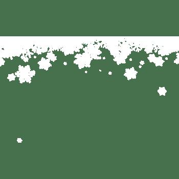 冬季白色雪花漂浮素材