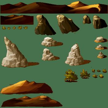 3D抽象3D卡通建筑 山石场景