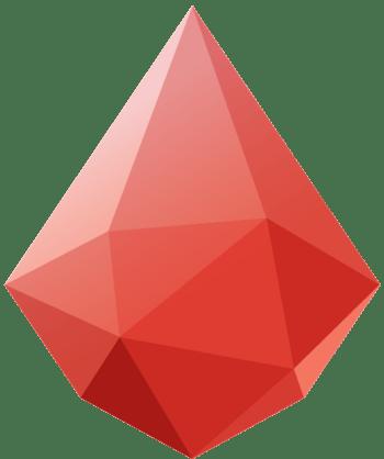 西瓜红色切割几何形状