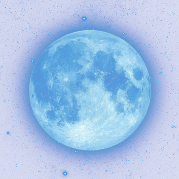 宁静泛光蓝色月亮
