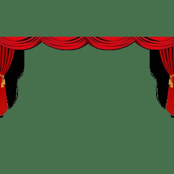 节日活动红色幕布
