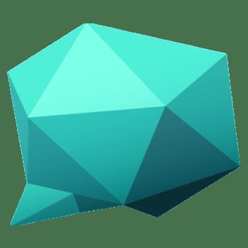 蓝色对话框切割几何形状
