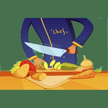 切菜矢量素材