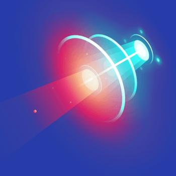 探照灯型科技炫光