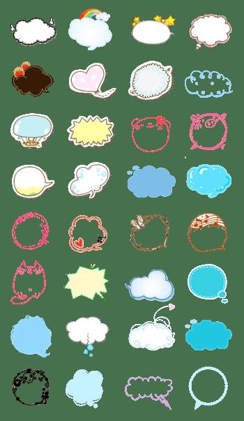 可爱对话气泡框PSD设计素材