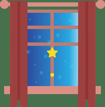 卡通窗户窗帘