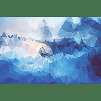 蓝调抽象菱格大背景图