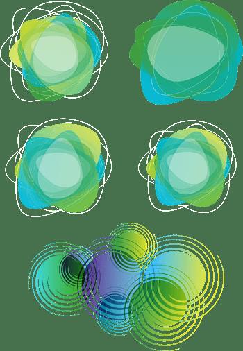 梦幻绿色缠绕图案背景矢量素材