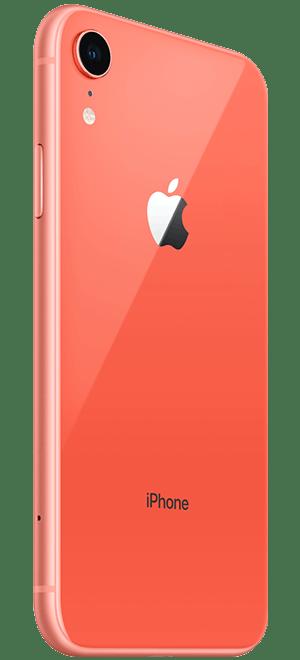 橙色iphonexr背面侧身摆拍免抠图片