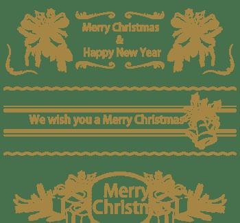 暗金色圣诞横幅