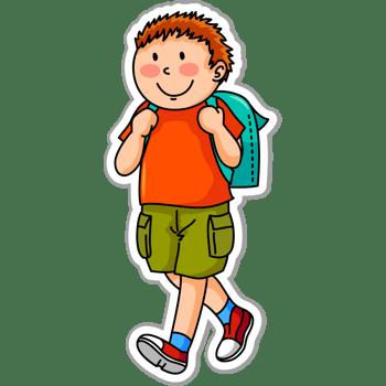 背着书包的学生