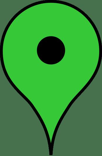 绿色的地点坐标
