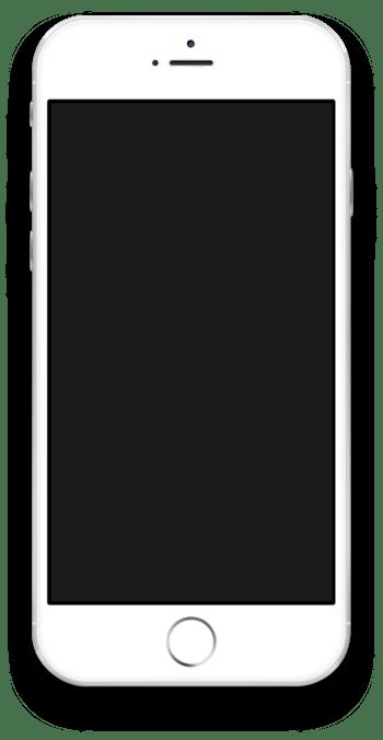 苹果6手机黑屏手机模型
