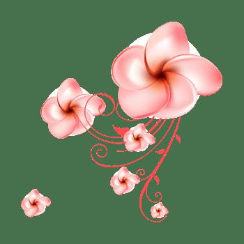 淡粉色时尚抽象花朵背景矢量素材