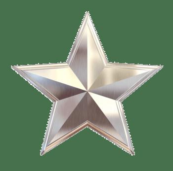 白金色五角星