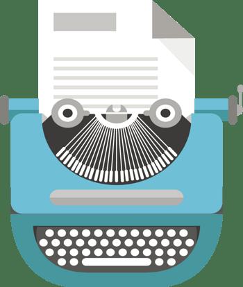 绿色扁平打字机