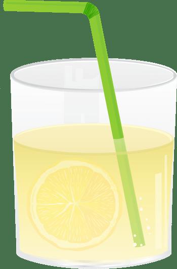 矢量柠檬气泡水