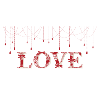love花纹背景