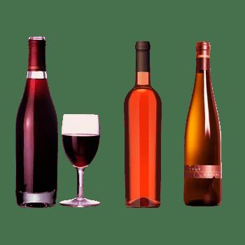 高贵典雅的红酒瓶和酒杯