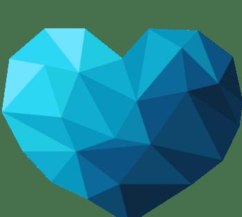 爱心几何形状