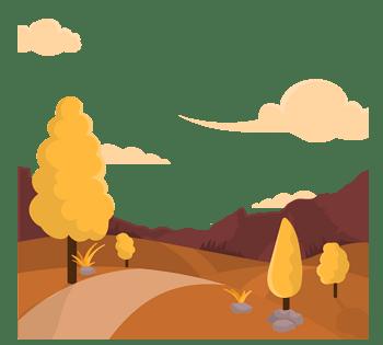 林间黄昏小路