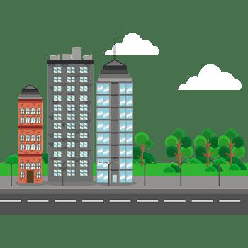 几何城市建筑
