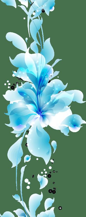 蓝色梦幻花朵