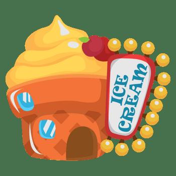 卡通冰淇淋房子