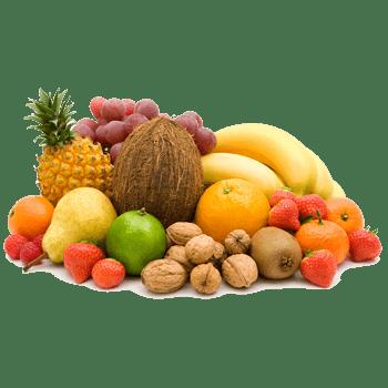 一堆蔬菜水果零食