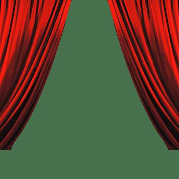 红色帘子图片素材