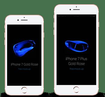 苹果手机iphone7正面展示样机
