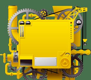 矢量黄色齿轮边框