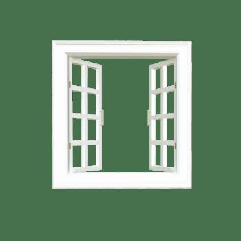 墙上白窗户