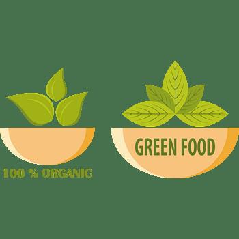 矢量环保自然餐饮店标