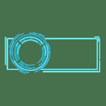 蓝色科技标题栏PSD