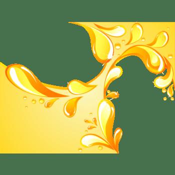 黄色迸溅液体