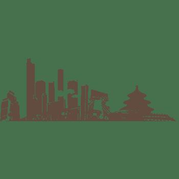 城市剪影北京剪影元素