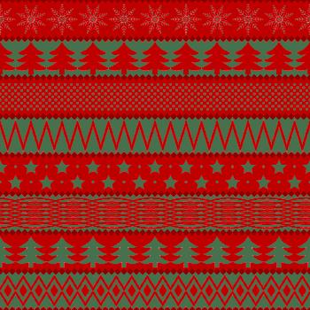 矢量圣诞节红色背景