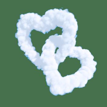 两个爱心云朵