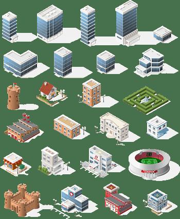 矢量城市建筑图形素材