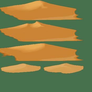 3D花草卡通石头 金色沙漠
