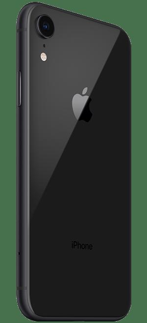 苹果手机iphonexr黑色款背面侧拍