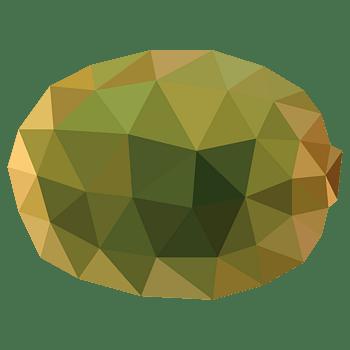 卡通三角晶格化水果猕猴桃