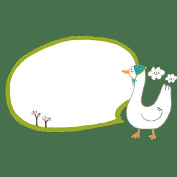 卡通动物泡泡对话框